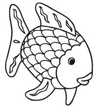 Kleurplaten Dieren In De Zee.Kleurplaat De Mooiste Vis Van De Zee The Rainbow Fish
