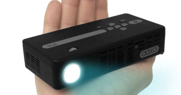 Aaxa p4 pico projector dlp hand held mini projector for Brookstone pocket projector micro