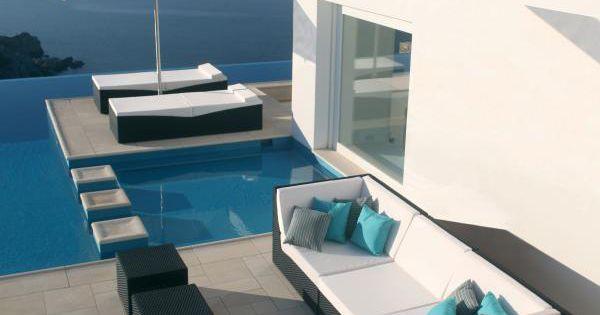 Sectional modular natural fiber garden sofa SUNDAY by ROYAL BOTANIA | Design