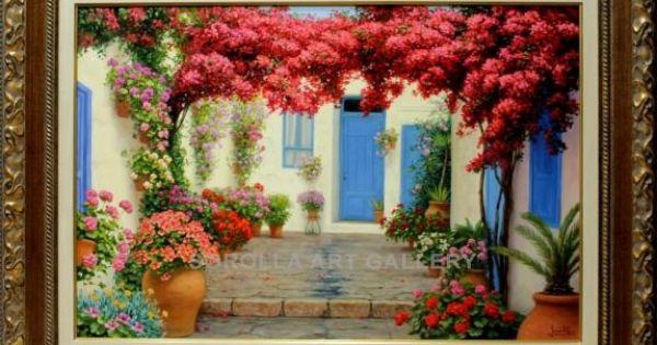 Jes s fern ndez patio con buganvilla venta de cuadros en for Galeria de arte sorolla