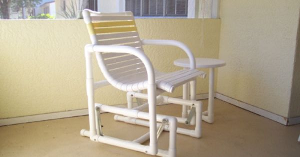 Pvc pipe glider chair pvc pinterest patio search for Pvc furniture plans