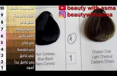 ارقام تغطي الشيب في صبغة لوريات تحويل ارقام صبغة لوريات الى ارقام عالمية Youtube Clair Beauty Noir