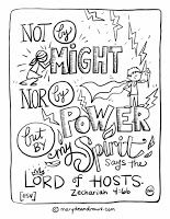 Not By Might Zechariah 4 6 Bible Verse Coloring Page Bible