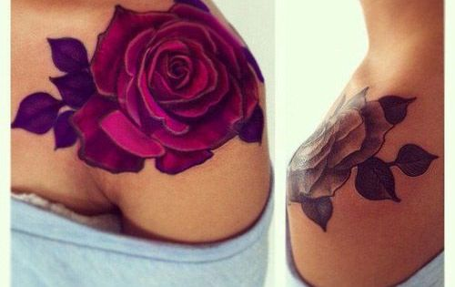 I don't know why but I LOVE rose tattoos I think they