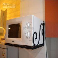 microwave shelf kitchen rack iron wall