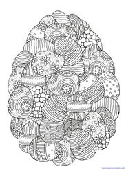 Mosaic Easter Egg Coloring Page Collection