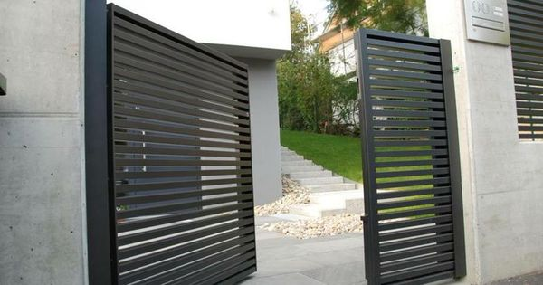 Linea aluminium fence modern fences for Portillon entree maison
