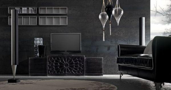 wohnideen wohnzimmer schwarz-italienisches möbeldesign | ideen, Wohnideen design