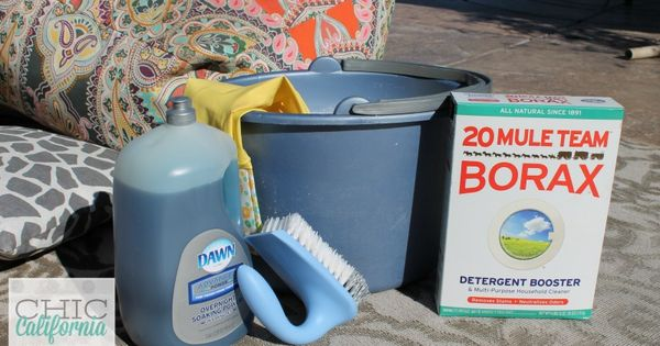 how to clean outdoor cushions vinegar