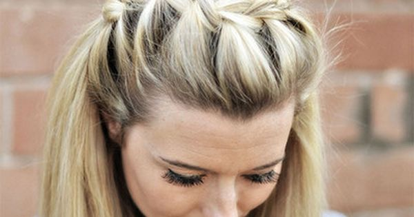 SOOOO wish I could do this!!! Draped French Braid Hair Tutorial and