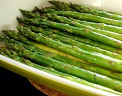 Baked Asparagus with Balsamic Butter Sauce: Has more of a soy sauce