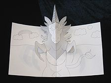 How To Make A Unicorn Pop Up Card Robert Sabuda Method Pop Up Card Templates Diy Pop Up Cards Unicorn Card
