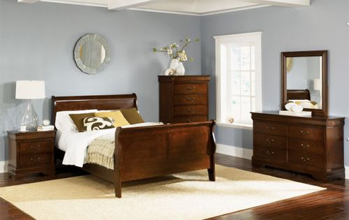 FFH nightstand - Cherry Wood Bedroom Furniture | Low Profile Bed ...