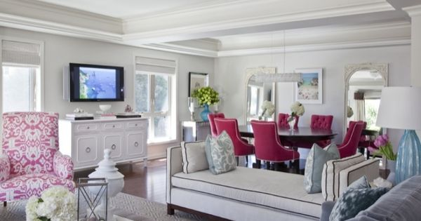 Pink Chairs In White Living Room Dining Room Decor Pad Decor Pad Pink Chai