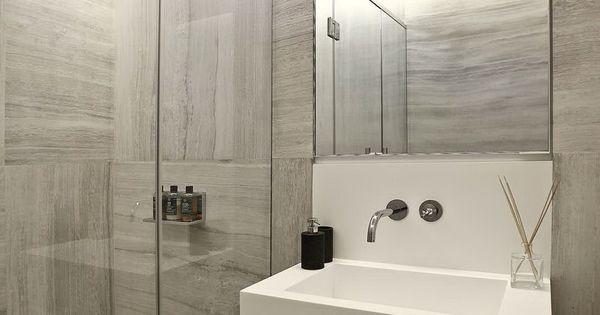 Monochrome bathroom  Architecture  Pinterest  욕실, 화장대 및 화장실