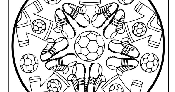 pin von doris ballif auf coloring pages mandalas pinterest fu ball ausmalbilder und schule. Black Bedroom Furniture Sets. Home Design Ideas