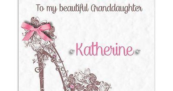 Handmade Personalised Ladies Daughter Granddaughter 16th 18th – Happy 18th Birthday Card