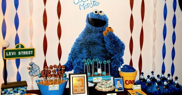 Cookie Monster Birthday Party Ideas | Photo 1 of 53 | Catch