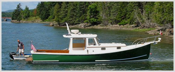 Just Launched Muskrat Maine Boats Homes Harbors Boat Plans Lobster Boat Boat