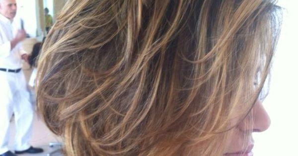 Short Hair Balayage Painted Bob Highlighted Chin Length