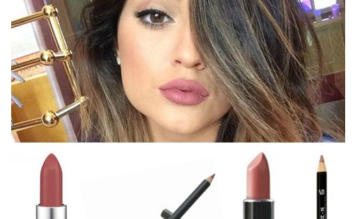 Kylie Jenner Lipstick - two combinations for her matte mauve pout! NYX Round Lipstick in Thalia and NYX 831 Mauve lip pencil