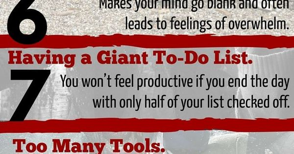 Want to be productive? Get things done? Accomplish your tasks effectively? At all costs you must avoid these 14 tasks that kill productivity | time management | Click link to see the full article. www.developgoodha...