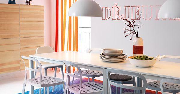 melltorp vitt bord med plats f r 4 personer med reidar vita stolar och best. Black Bedroom Furniture Sets. Home Design Ideas