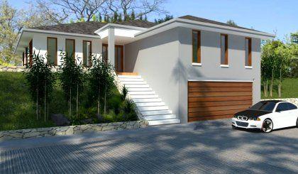 4 Bed Hillside House Plan Australian House Plans Hillside House Cottage Style House Plans