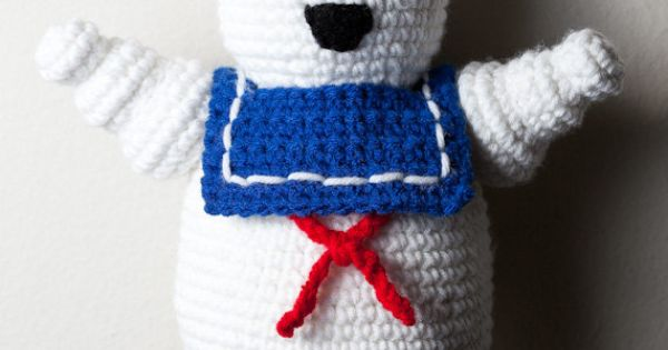 Ghostbusters Amigurumi Pattern : Crocheted Mr Stay Puft Marshmallow Man by CuddlefishCrafts ...