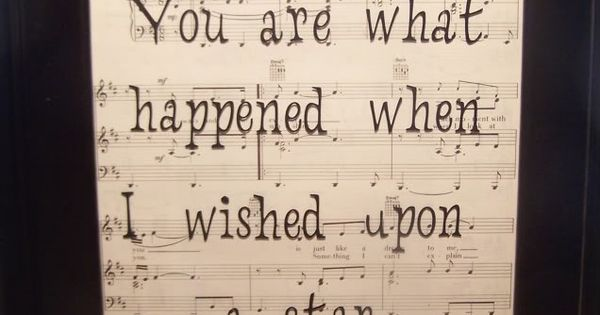 such a sweet art project... Possibly use our wedding song sheet music!