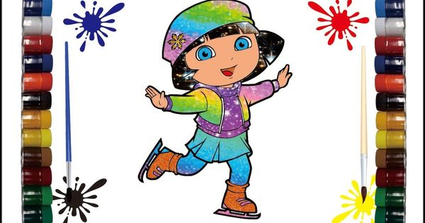 Mewarnai Dora The Explorer Drawing Gambar Warna