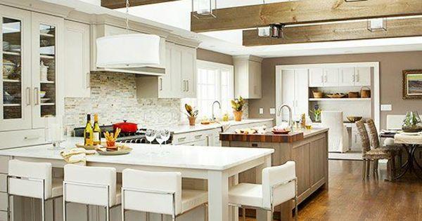 Großartig Küchen Mit Kochinsel Küchenblock Freistehend Landhausküche   My Home, My  Castle   Pinterest