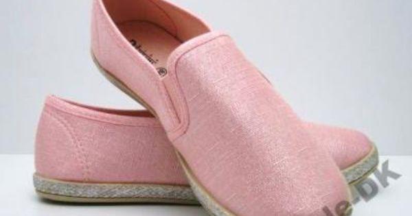 A99 Trampki Slip On Len Rozowe 37 Slip On Flat Espadrille Shoes