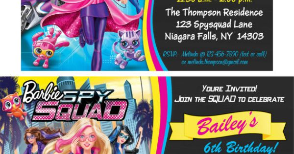 YOU PRINT Barbie Spy Squad Birthday Invitation by TAGSRUSCANADA | Party Ideas | Pinterest ...
