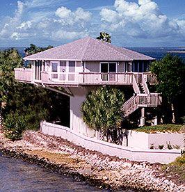 Pedestal Design Elevated 20 Ft Gulf Coast Island Hernando Florida Hurricane Proof House Crazy Houses Safe House Design