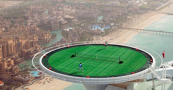 Tennis Court Dubai Hotel Roof Google Search Unique