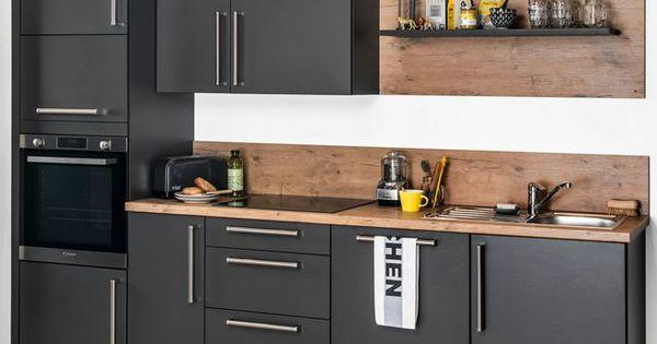 Cuisine darty nouvelles cuisines sur mesure en bois bois et noir - Cuisine sur mesure darty ...