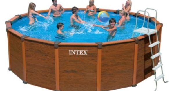 intex wood grain pool 18ft x52in pools pinterest wood grain woods and pool spa. Black Bedroom Furniture Sets. Home Design Ideas
