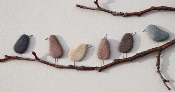 S es vogelbild aus steinen basteln tolle idee diy for Kieselsteine baumarkt
