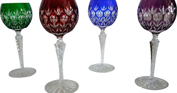 Bohemian Cut Crystal Glasses Set Of 4 Delicious