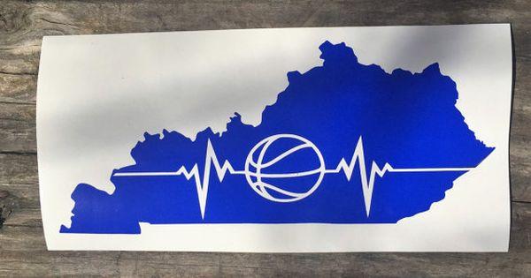 Basketball The Heartbeat Of Kentucky Decal Yeti Tumbler