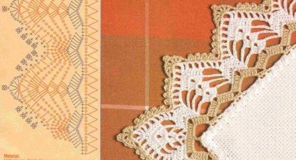 Bordures de finition et leurs grilles gratuites au - Bordure de finition au crochet ...