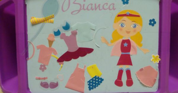 Quot Fashionista Play Tray Quot Personalized Dress Up Paper Doll