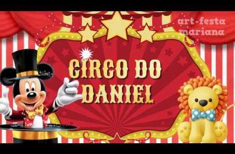 Convite Animado Mickey Circo Youtube Com Imagens Circo Do