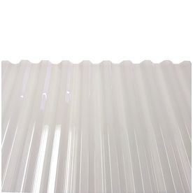 Tuftex Polycarb 12 Ft X 2 17 Ft Corrugated White Polycarbonate Plastic Roof Panel Lowes Com Corrugated Plastic Roofing Roof Panels Polycarbonate Roof Panels