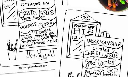we are his workmanship ephesians 2 10 free printable bible