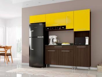 Cozinha Compacta Poliman Moveis Luna Com Balcao 7 Portas 1