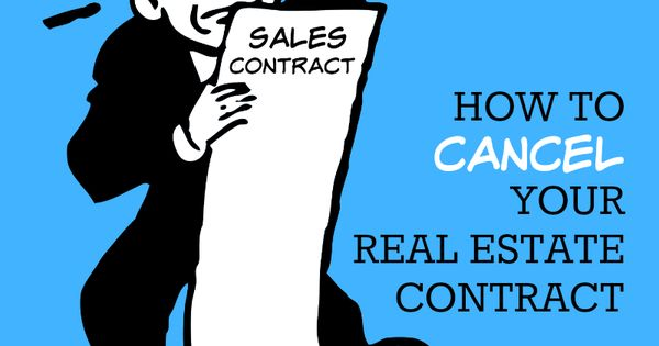 Buying a home? Want to know how I get out of my real estate - real estate sales contract