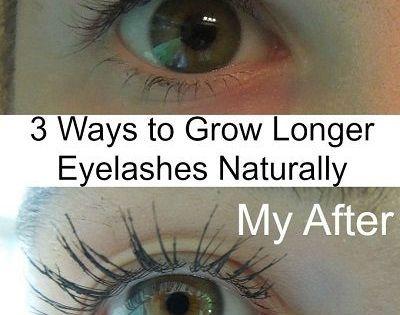 3 ways to grow longer eyelashes naturally rizinus l. Black Bedroom Furniture Sets. Home Design Ideas