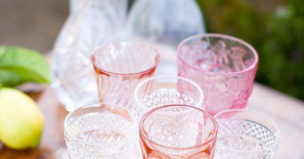 Sweet - Sophisticated servings — we're inspired by rose hued vintage glasses.